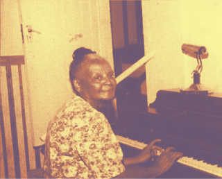 Old lady playing piano